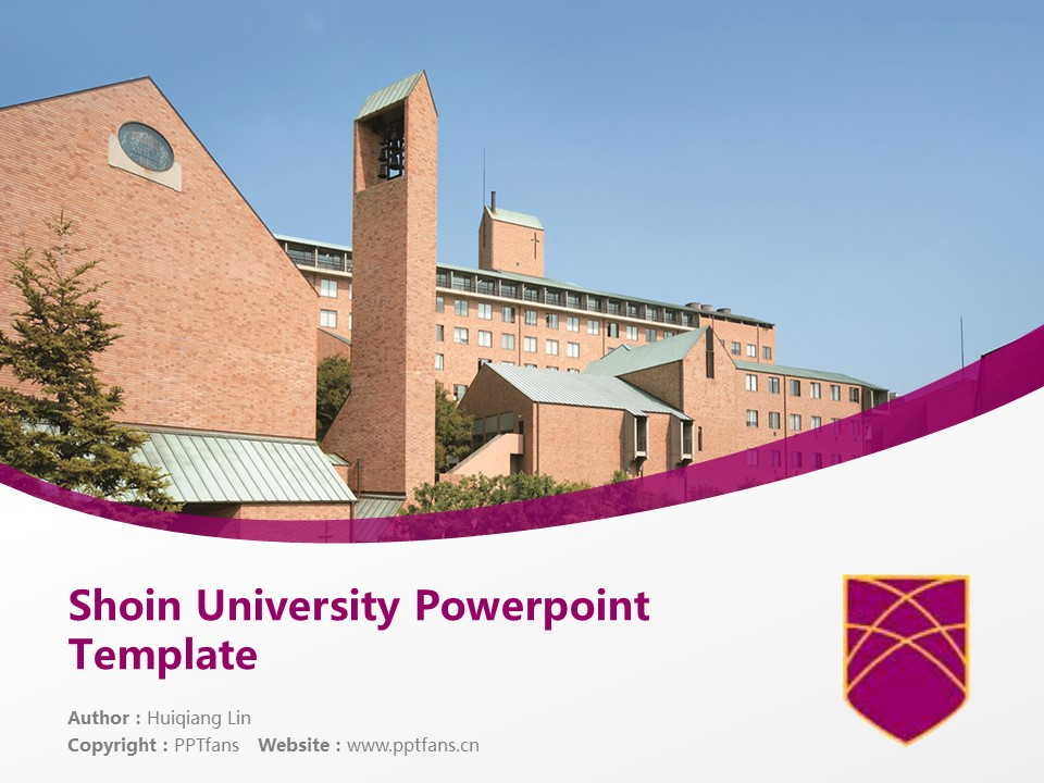 Shoin University Powerpoint Template Download | 松荫大学PPT模板下载_幻灯片1