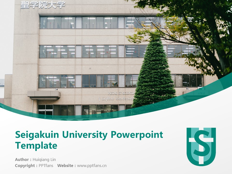 Seigakuin University Powerpoint Template Download | 圣学院大学PPT模板下载_幻灯片1
