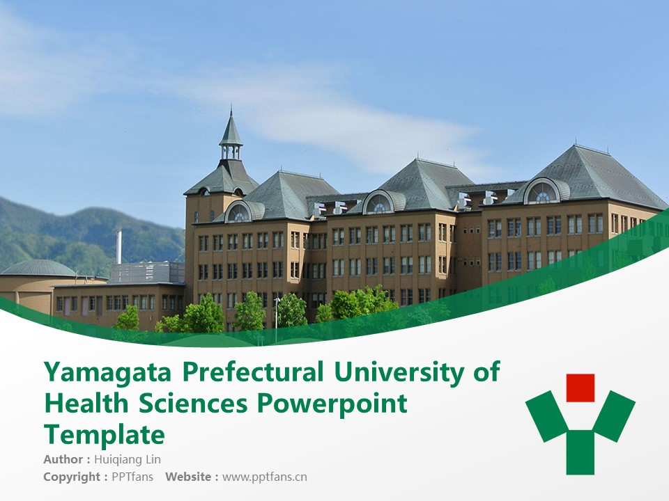 Yamagata Prefectural University of Health Sciences Powerpoint Template Download | 山形县立保健医疗大学PPT模板下载_幻灯片1