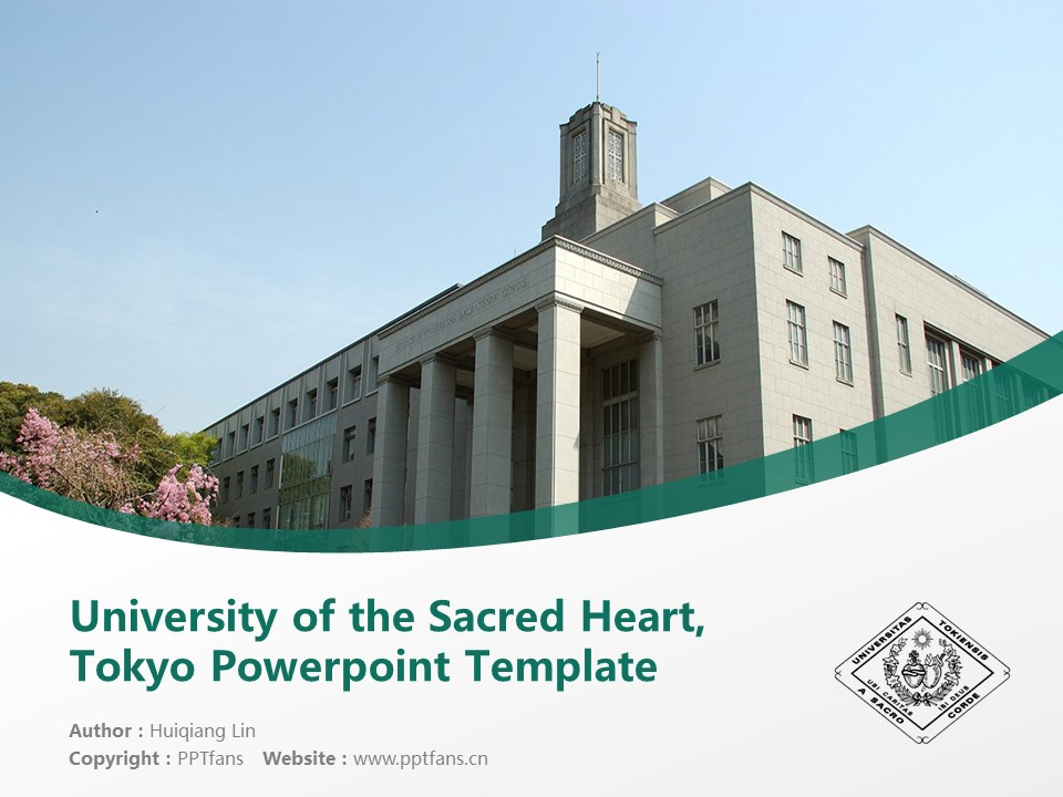 University of the Sacred Heart, Tokyo Powerpoint Template Download | 圣心女子大学PPT模板下载_幻灯片1