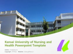 Kansai University of Nursing and Health Powerpoint Template Download | 顺心会看护医疗大学PPT模板下载