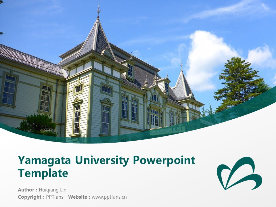 Yamagata University Powerpoint Template Download | 山形大学PPT模板下载_幻灯片1