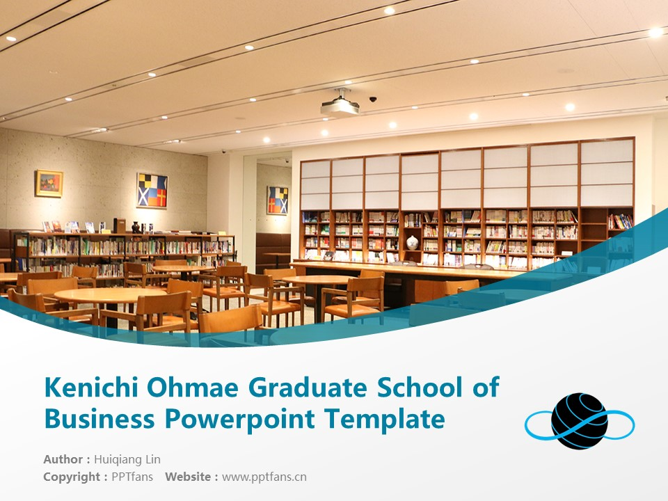 Kenichi Ohmae Graduate School of Business Powerpoint Template Download | 商务突破大学院大学PPT模板下载_幻灯片1