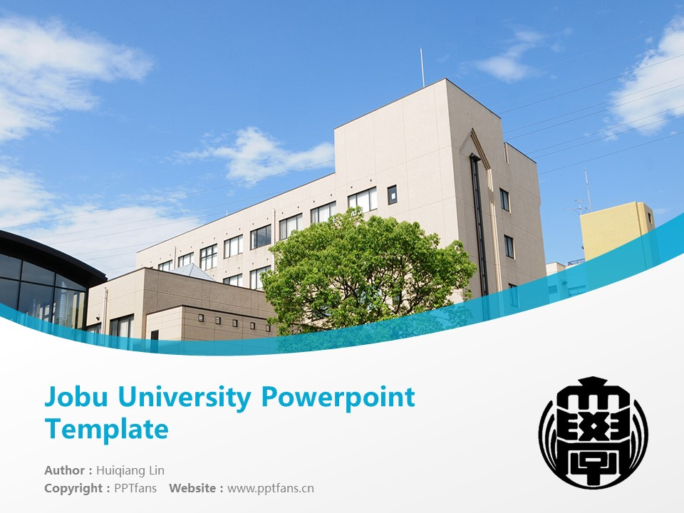 Jobu University Powerpoint Template Download | 上武大学PPT模板下载_slide1