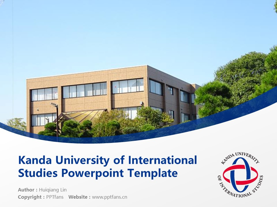 Kanda University of International Studies Powerpoint Template Download | 神田外语大学PPT模板下载_slide1