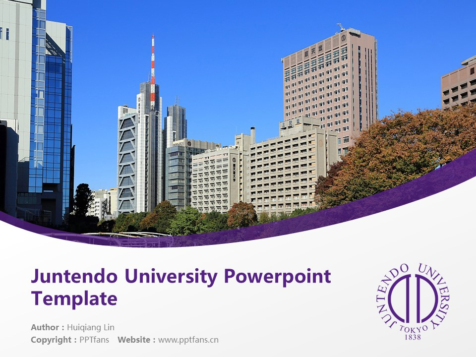 Juntendo University Powerpoint Template Download | 顺天堂大学PPT模板下载_slide1