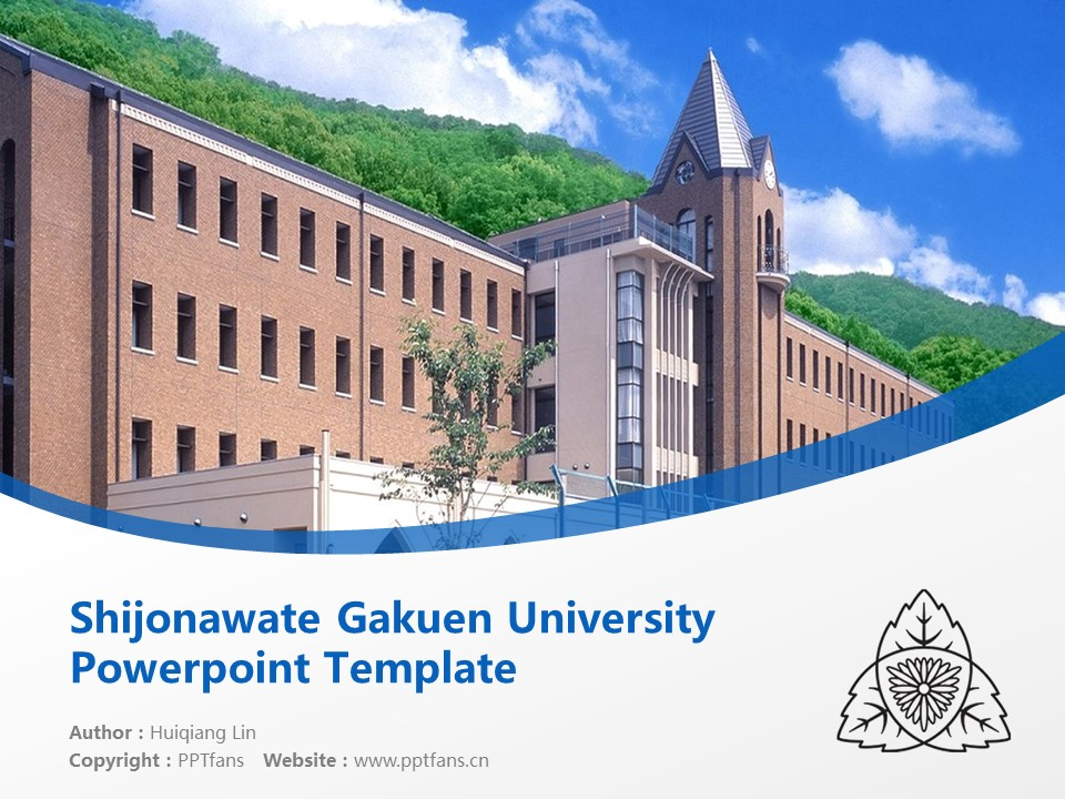 Shijonawate Gakuen University Powerpoint Template Download | 四条裰学园大学PPT模板下载_slide1