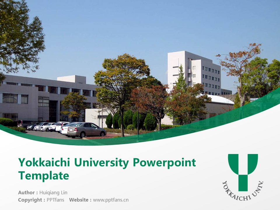 Yokkaichi University Powerpoint Template Download | 四日市大学PPT模板下载_幻灯片1