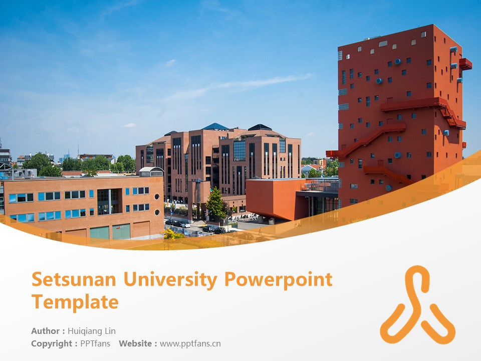 Setsunan University Powerpoint Template Download | 摄南大学PPT模板下载_幻灯片1