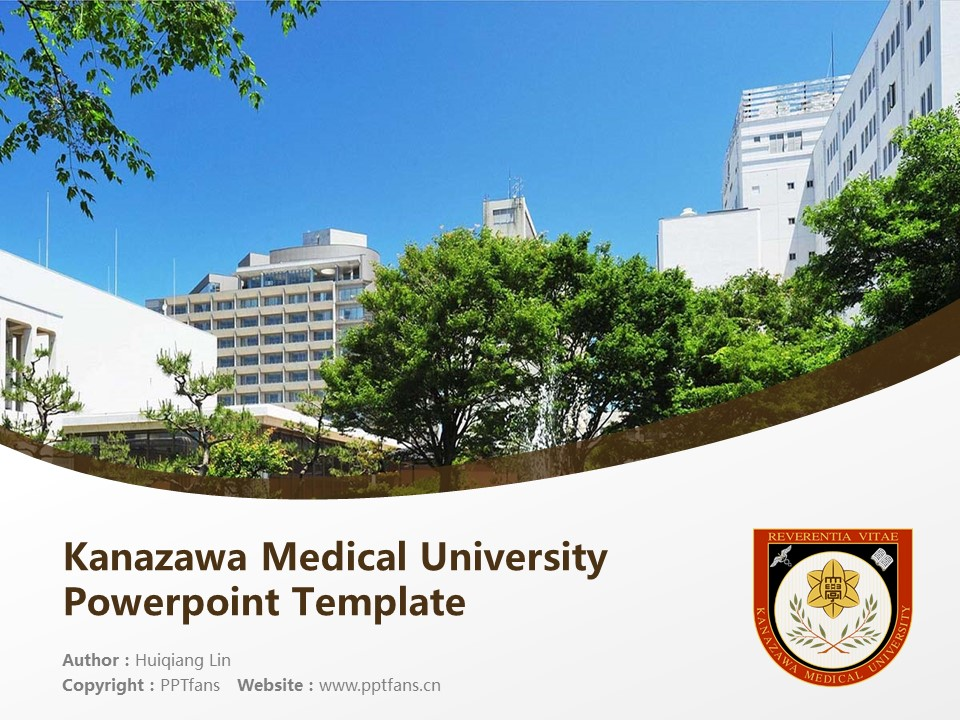 Kanazawa Medical University Powerpoint Template Download | 金泽医科大学PPT模板下载_slide1