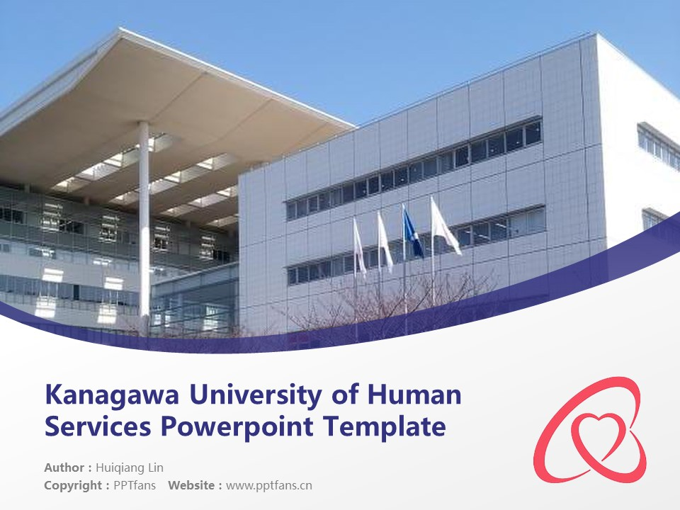 Kanagawa University of Human Services Powerpoint Template Download | 神奈川县立保健福利大学PPT模板下载_幻灯片1