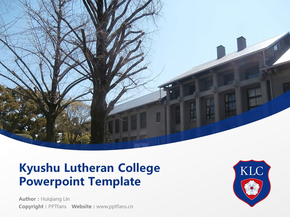 Kyushu Lutheran College Powerpoint Template Download | 九州路德学院大学PPT模板下载_slide1