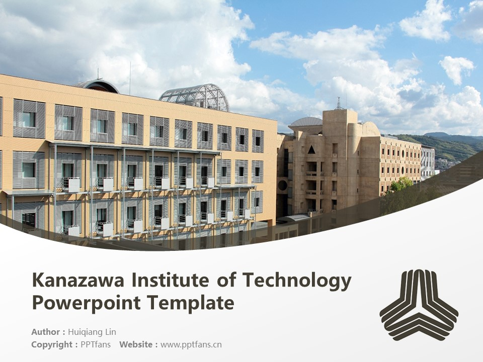 Kanazawa Institute of Technology Powerpoint Template Download | 金泽工业大学PPT模板下载_slide1