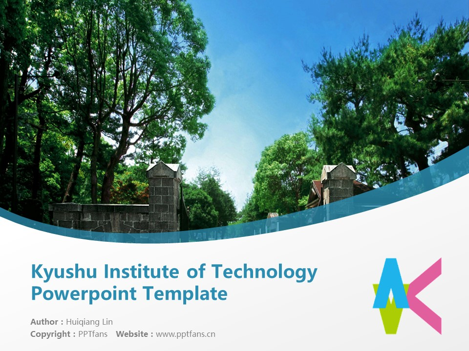 Kyushu Institute of Technology Powerpoint Template Download | 九州工业大学PPT模板下载_slide1