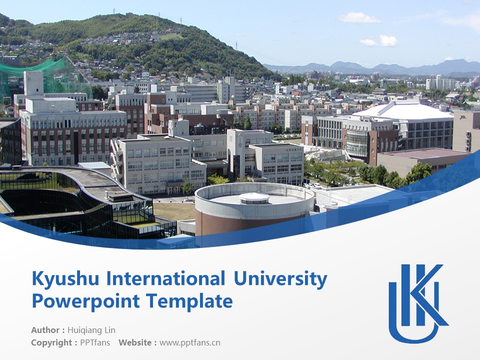 Kyushu International University Powerpoint Template Download | 九州国际大学PPT模板下载_幻灯片1