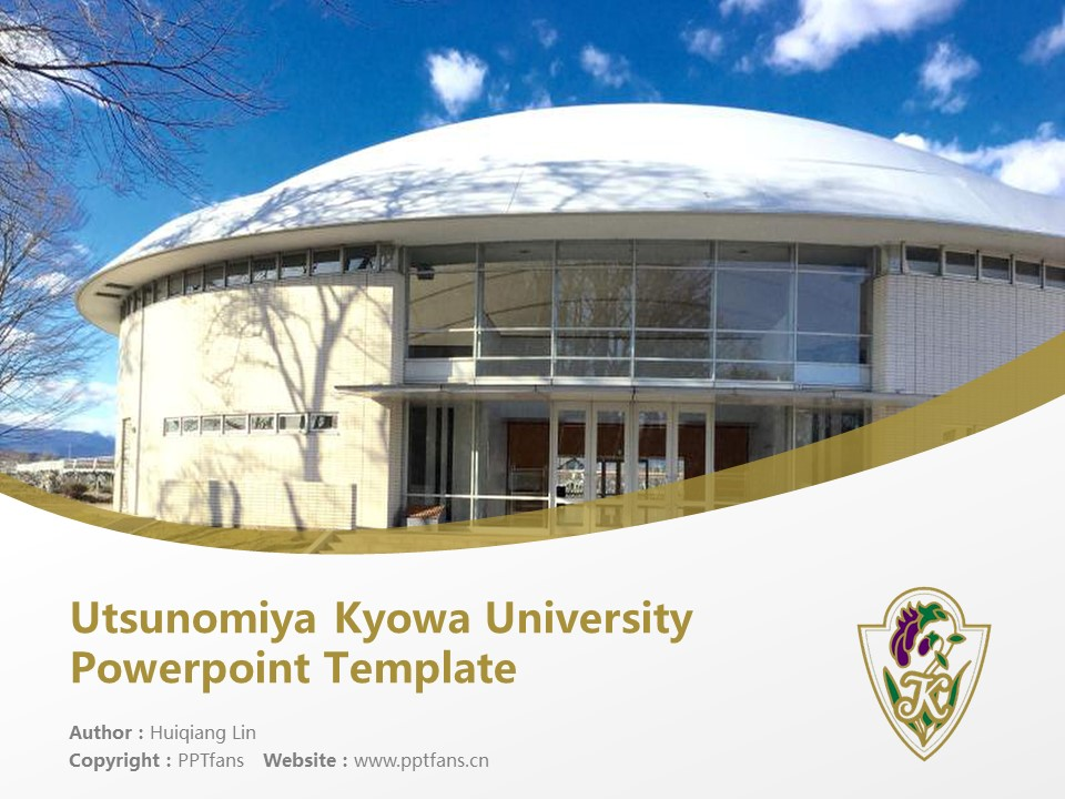 Utsunomiya Kyowa University Powerpoint Template Download | 那须大学PPT模板下载_slide1