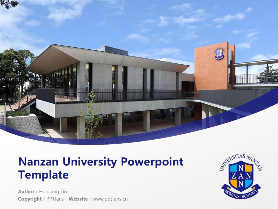 Nanzan University Powerpoint Template Download | 南山大学PPT模板下载_幻灯片1