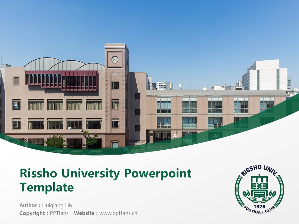 Rissho University Powerpoint Template Download | 立正大学PPT模板下载_幻灯片1