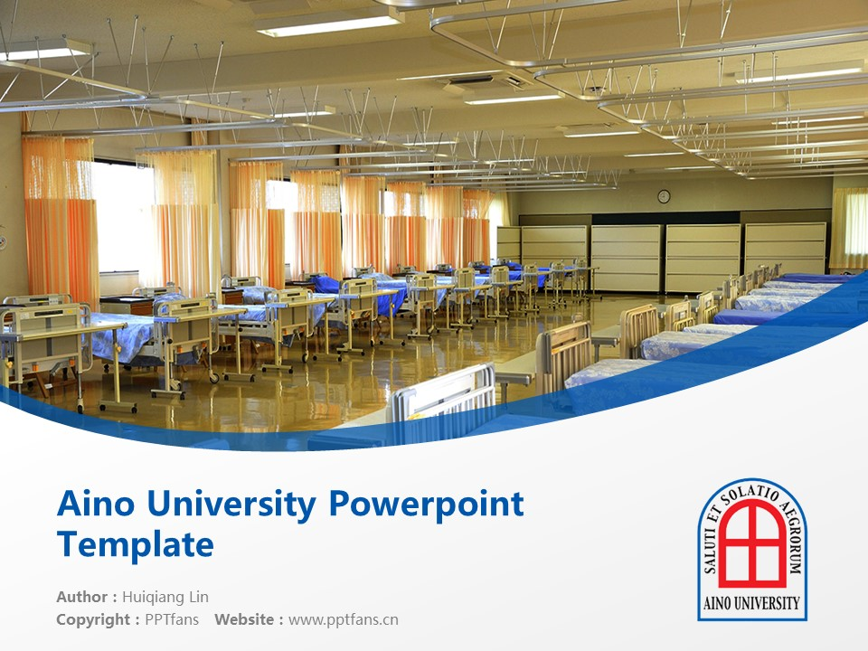 Aino University Powerpoint Template Download | 蓝野大学PPT模板下载_幻灯片1
