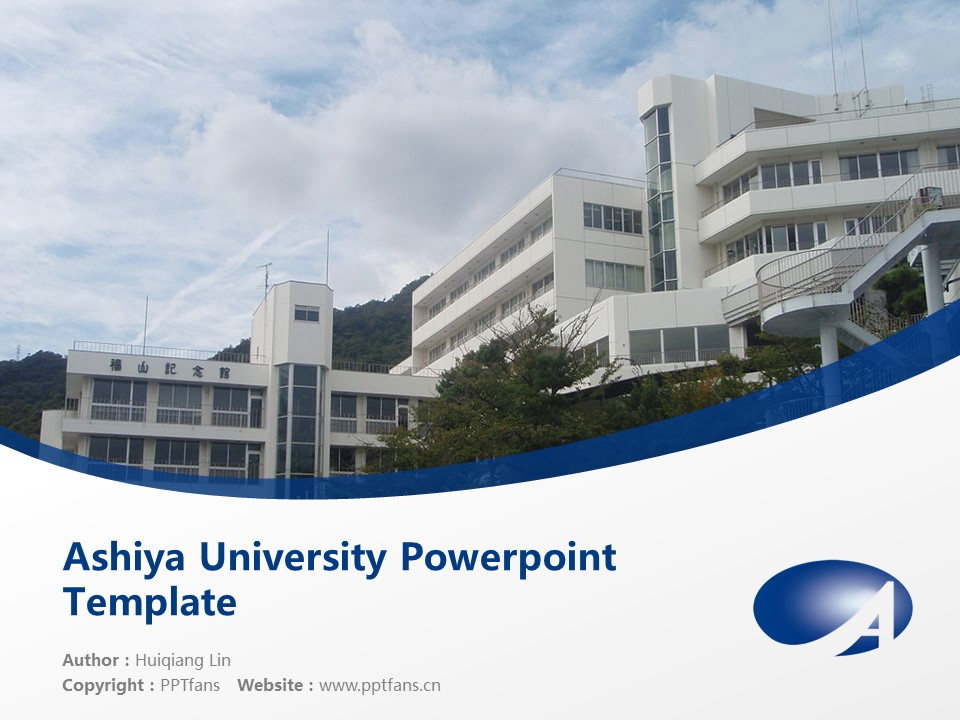 Ashiya University Powerpoint Template Download | 芦屋大学PPT模板下载_幻灯片1