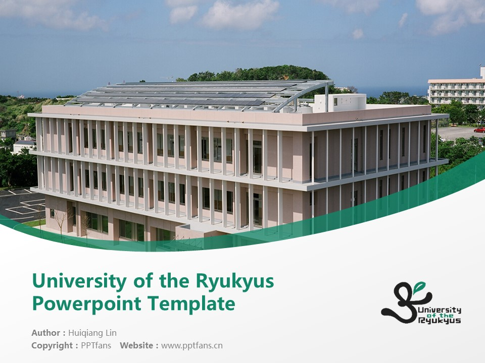 University of the Ryukyus Powerpoint Template Download | 琉球大学PPT模板下载_幻灯片1