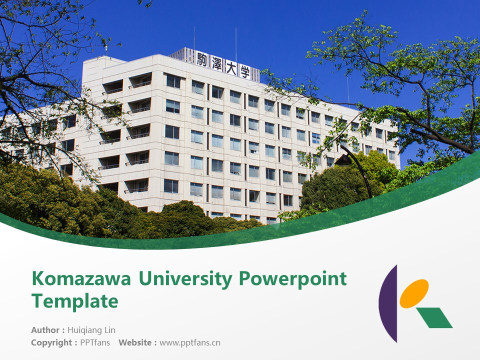 Komazawa University Powerpoint Template Download | 驹泽大学PPT模板下载_幻灯片1