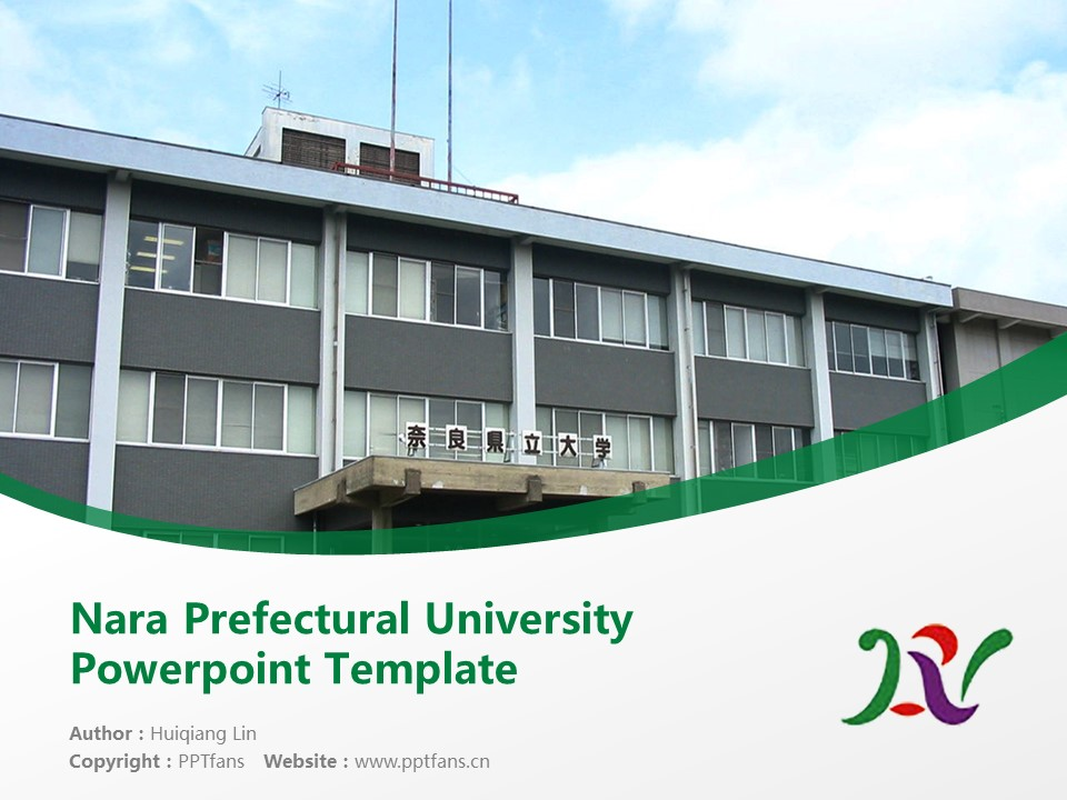 Nara Prefectural University Powerpoint Template Download | 奈良县立大学PPT模板下载_slide1