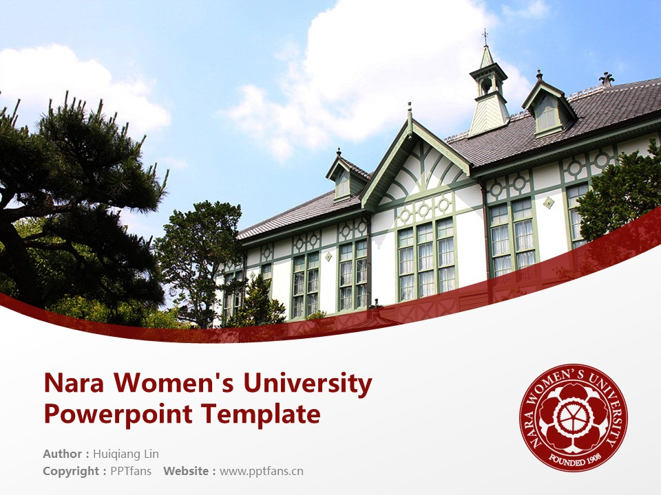 Nara Women's University Powerpoint Template Download | 奈良女子大学PPT模板下载_幻灯片1