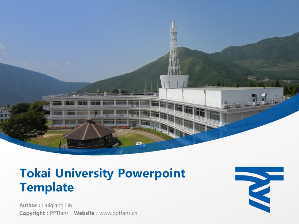 Tokai University Powerpoint Template Download | 九州东海大学PPT模板下载_slide1