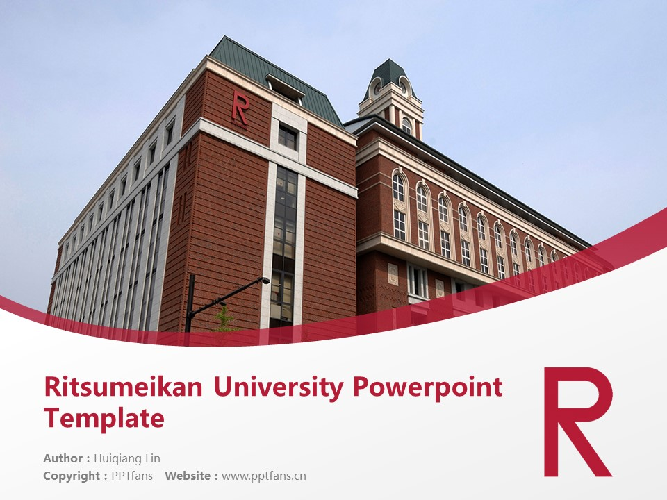 Ritsumeikan University Powerpoint Template Download | 立命馆大学PPT模板下载_幻灯片1
