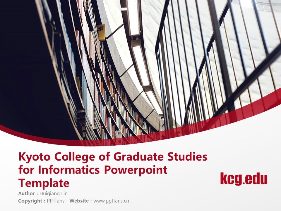 Kyoto College of Graduate Studies for Informatics Powerpoint Template Download | 京都情报大学院大学PPT模板下载_幻灯片预览图1