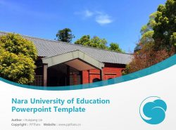 Nara University of Education Powerpoint Template Download | 奈良教育大学PPT模板下载