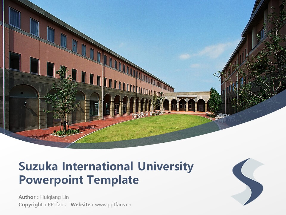 Suzuka International University Powerpoint Template Download | 铃鹿国际大学PPT模板下载_slide1