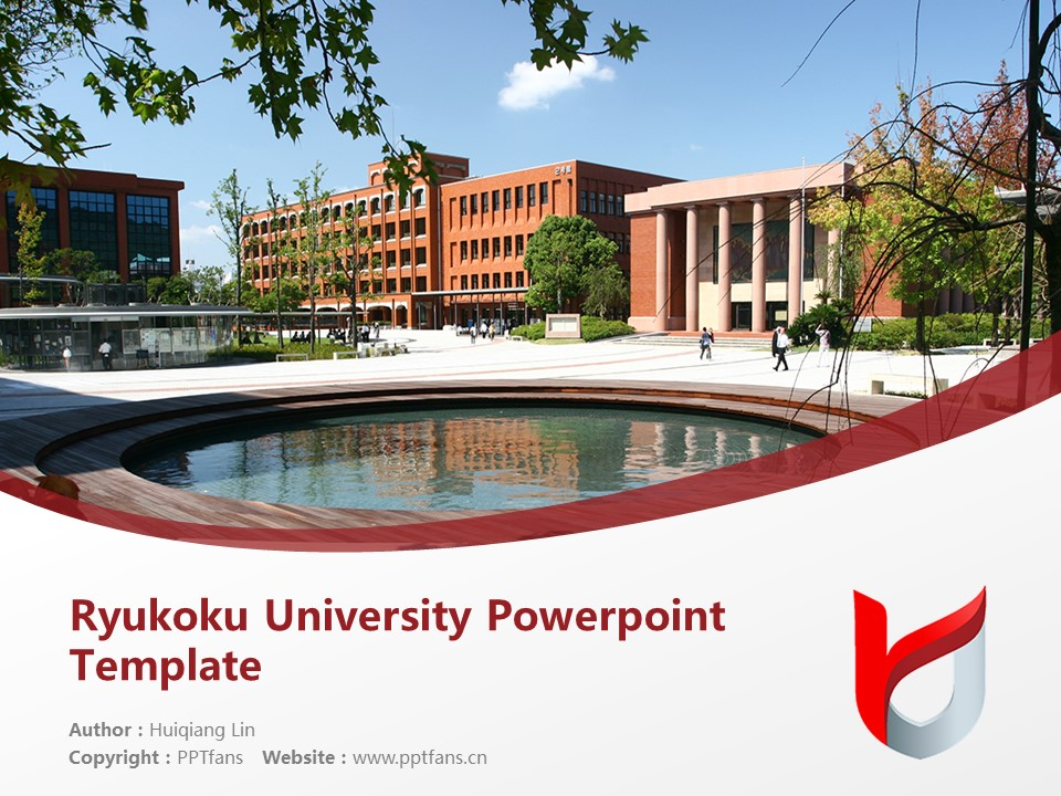 Ryukoku University Powerpoint Template Download | 龙谷大学PPT模板下载_slide1