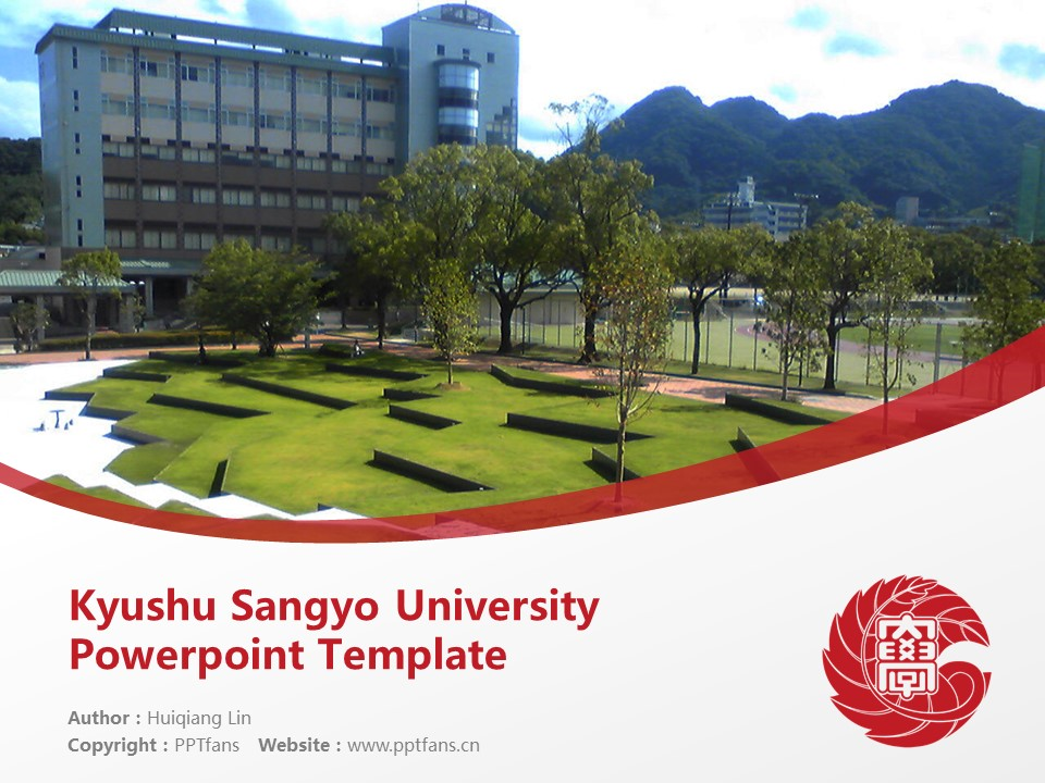 Kyushu Sangyo University Powerpoint Template Download | 九州产业大学PPT模板下载_slide1