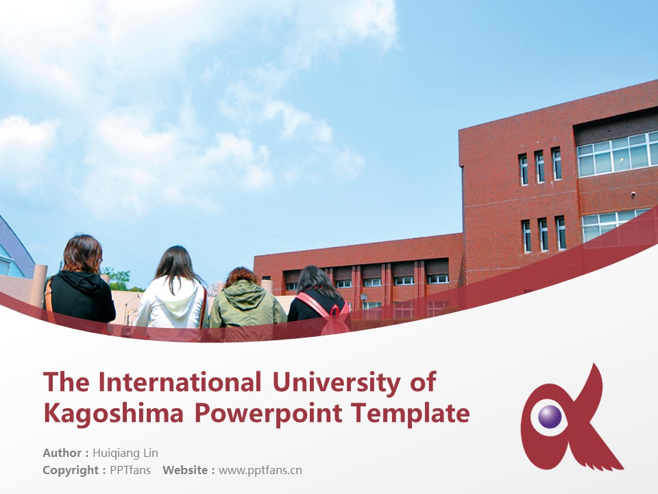 The International University of Kagoshima Powerpoint Template Download | 鹿儿岛国际大学PPT模板下载_slide1