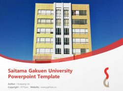 Saitama Gakuen University Powerpoint Template Download | 埼玉学园大学PPT模板下载