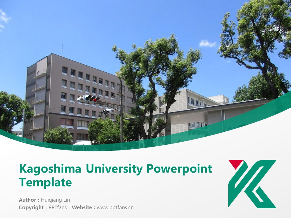 Kagoshima University Powerpoint Template Download | 鹿儿岛大学PPT模板下载_幻灯片预览图1
