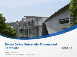 Kyoto Seika University Powerpoint Template Download | 京都精华大学PPT模板下载