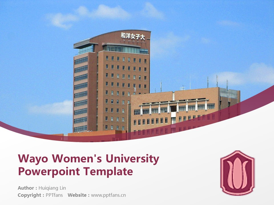 Wayo Women's University Powerpoint Template Download | 和洋女子大学PPT模板下载_幻灯片预览图1