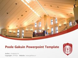 Poole Gakuin Powerpoint Template Download | 普尔学院大学PPT模板下载