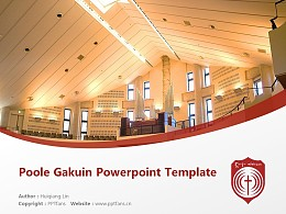 Poole Gakuin Powerpoint Template Download | 普爾學院大學PPT模板下載