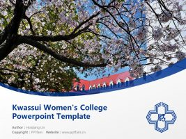 Kwassui Women's College Powerpoint Template Download | 活水女子大学PPT模板下载