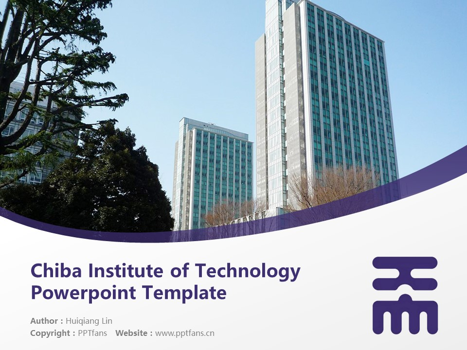 Chiba Institute of Technology Powerpoint Template Download | 千叶工业大学PPT模板下载_幻灯片1