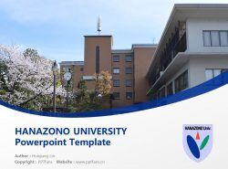 HANAZONO UNIVERSITY Powerpoint Template Download | 花园大学PPT模板下载