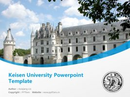Keisen University Powerpoint Template Download | 惠泉女学园大学PPT模板下载