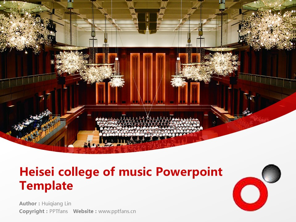 Heisei college of music Powerpoint Template Download | 平成音乐大学PPT模板下载_幻灯片预览图1