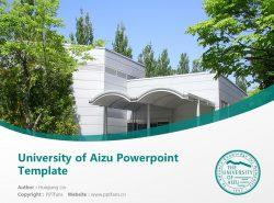 University of Aizu Powerpoint Template Download | 会津大学PPT模板下载