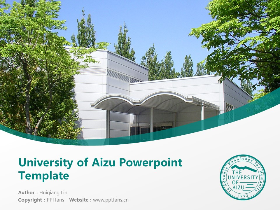 University of Aizu Powerpoint Template Download | 会津大学PPT模板下载_幻灯片1