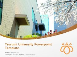 Tsurumi University Powerpoint Template Download | 鹤见大学PPT模板下载